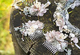 """Ozdoby do vlasov - Kvetinový hrebienok """"kryštáliky duše"""" - výpredaj z18€ - 8869714_"""