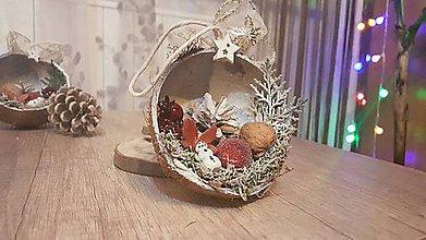 Dekorácie - Kokos plnený Vianocami ll. ♥ - 8872519_