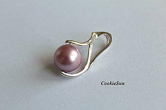 Náhrdelníky - Prívesok Swarovski Pearls Powder Rose - 8873270_