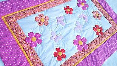 Textil - kvetinový prehoz - 8873339_