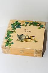 Krabičky - Čajová krabica - Tea Time - 8872558_