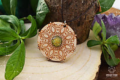 Náhrdelníky - Zen - náhrdelník sily&mentálnej rovnováhy (zlatá/žltá) - 8872713_