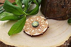 Náhrdelníky - Zen - náhrdelník sily&mentálnej rovnováhy (zlatá/žltá) - 8872715_