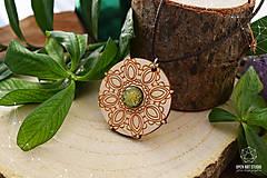 Náhrdelníky - Zen - náhrdelník sily&mentálnej rovnováhy (zlatá/žltá) - 8872717_
