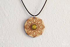 Náhrdelníky - Zen - náhrdelník sily&mentálnej rovnováhy (zlatá/žltá) - 8872719_