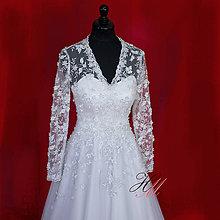 Šaty - Svadobné šaty romantické - 8869773_