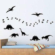 Dekorácie - Nálepky na stenu - Dinosaury (Ľadovo modrá) - 8868913_