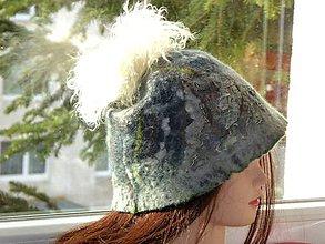 Čiapky - Dámska (dievčenská) vlnená plstená čiapka - 8869444_