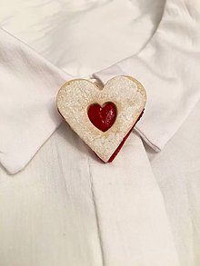 Odznaky/Brošne - linecké srdce-menšia brošňa - 8868251_