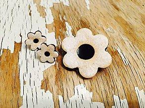 Sady šperkov - linecký kvietok s čučoriedkovým džemom-sada - 8868947_