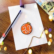 Magnetky - ★ Vianočná magnetka cartoon (vianočná guľa) - 8870670_