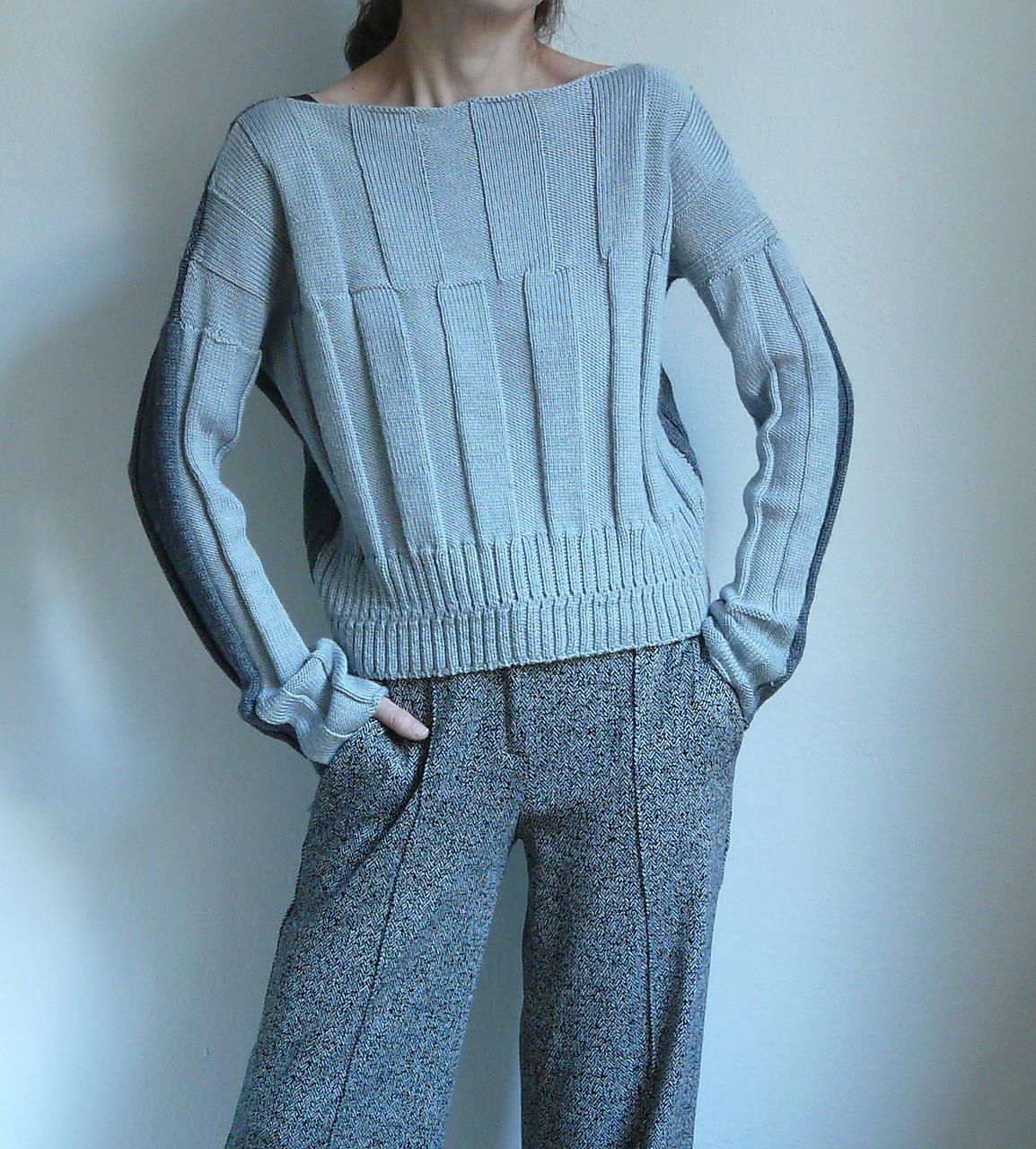 Svetre/Pulóvre - šedý pulover - 8871789_