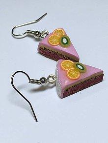 Náušnice - Náušnice tortičky - 8877429_