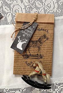 Papiernictvo - Vianočné vrecúško - vrecko - 8875505_