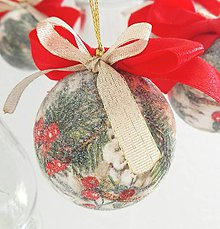 Dekorácie - Vianočné gule sada - 8878821_