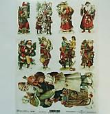 - Ryžový papier na decoupage -A4-R1301 - Vianoce, Mikuláš, santa - 8874322_