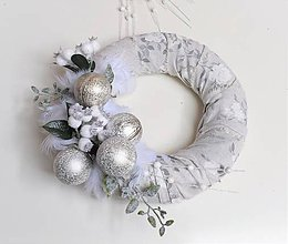 Dekorácie - Veniec vianočný recy nordic style - 8875220_
