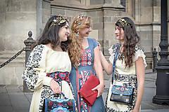 Ozdoby do vlasov - Mosadzný konárikový venček so zlatými kvetmi a guličkami - Slavianka - 8874592_
