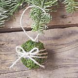 Dekorácie - Vianočné gule machové s mašličkou - 8876362_