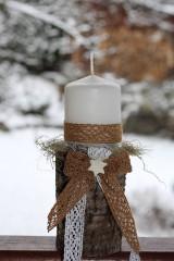 Dekorácie - Vianočný svietnik - 8875156_
