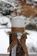 Dekorácie - Vianočný svietnik - 8875372_