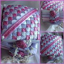 Krabičky - šperkovnica patchwork lila krása - 8874353_