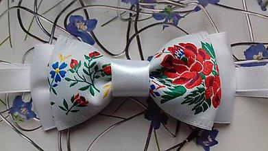 Doplnky - pánsky motýlik folk - 8874564_