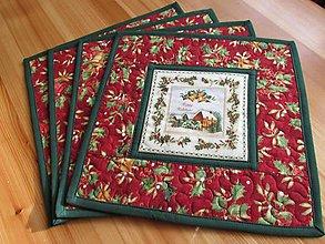Úžitkový textil - Vianočné prestieranie Christmas belss 4ks - 8873937_
