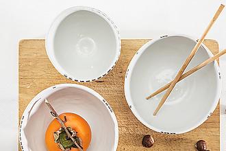 Nádoby - porcelánové misky s platinou / porcelain bowl - 8874920_