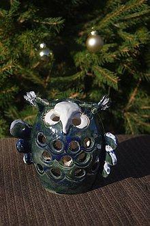 Svietidlá a sviečky - svietnik sova - 8875811_