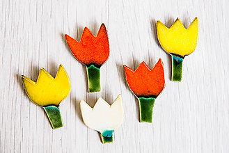 Odznaky/Brošne - Andreas: Brošňa Tulipán (Biela) - 8876630_