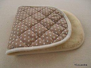 Textil - Podložka do vaničky Joolz DAY 2 100% merino Hviezdička béžová - 8873807_