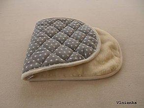 Textil - Podložka do vaničky Joolz DAY 2 100% merino Hviezdička sivá - 8873815_