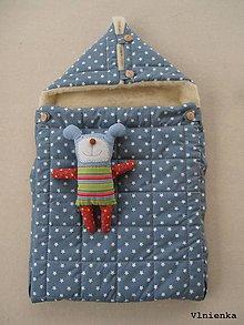 Textil - RUNO SHOP fusak pre deti do kočíka 100% ovčie runo MERINO TOP super wash Hviezdička sivá - 8875995_