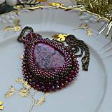 Náhrdelníky - Jaspisový n.6 - šitý náhrdelník - 8877676_