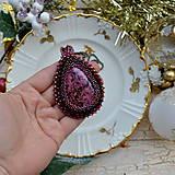 Náhrdelníky - Jaspisový n.6 - šitý náhrdelník - 8877677_