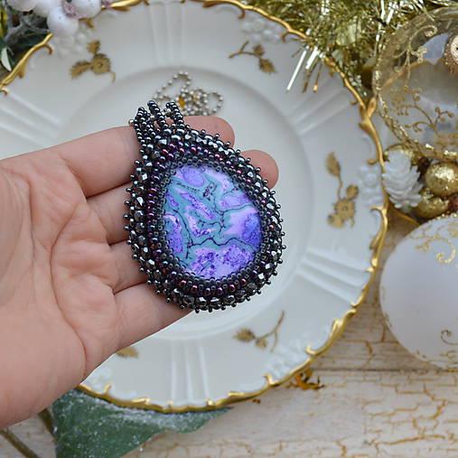 Jaspisový n.5 - šitý náhrdelník