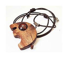Náhrdelníky - Sloníča (drevený prívesok s jaspisom) - 8879457_