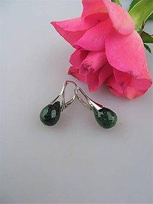 Náušnice - Smaragdové náušnice v striebre Ag925/1000 - 8878204_