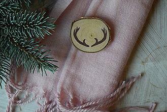 Odznaky/Brošne - Parožie na kabát :) - 8878467_
