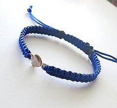 Náramky - S minisrdiečkom (modrá) - 8874830_