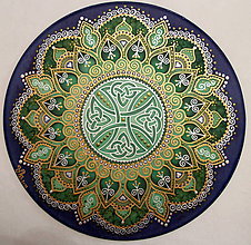Dekorácie - Mandala zdravia a uzdravenia - 8879254_