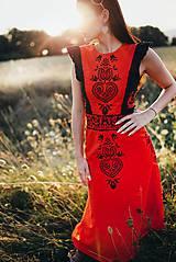 Šaty - Midi šaty ľanové Slavianka - 8877682_