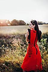 Šaty - Midi šaty ľanové Slavianka - 8877685_