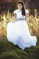 Šaty - Biele plisované šaty Slavianka - 8877915_