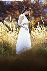 Šaty - Biele plisované šaty Slavianka - 8877916_
