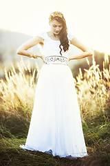 Šaty - Biele plisované šaty Slavianka - 8877917_