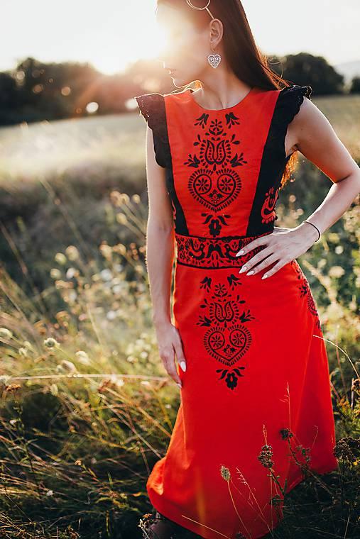 Midi šaty ľanové Slavianka