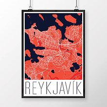 Obrazy - REYKJAVÍK, moderný, červený - 8874585_