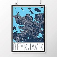 Obrazy - REYKJAVÍK, moderný, tmavomodrý - 8875517_